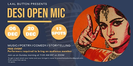 DESI OPEN MIC  - ZOOM tickets