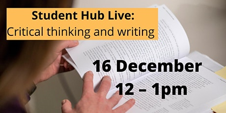 Critical thinking and writing (repeated) (12:00-13:00) tickets