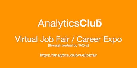 #AnalyticsClub Virtual Job Fair / Career Expo Event #Columbia tickets