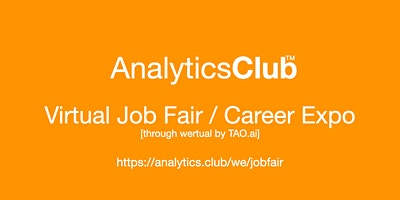 #AnalyticsClub Virtual Job Fair / Career Expo Even