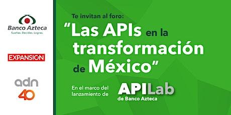 Las APIs en la transformación de México entradas