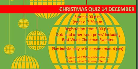 ACI UK Christmas Quiz 14 December 2020 tickets