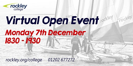 Rockley College Virtual Open Event December 2020 tickets
