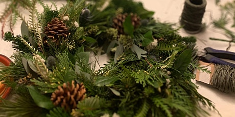 Blooms and Brews Winter Wreath Class tickets