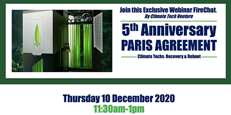 5th Anniversary Paris Agreement : Climate Techs for Recovery and Reboot tickets