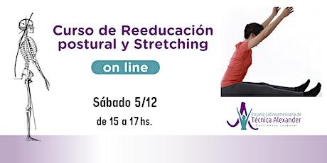 Curso Online  Stretching y Reeducación postural 3 con Técnica Alexander entradas