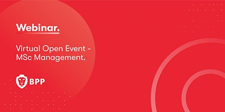 Virtual Open Event – MSc Management tickets