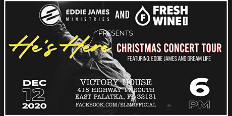 He's Here Christmas Concert Tour with Eddie James tickets
