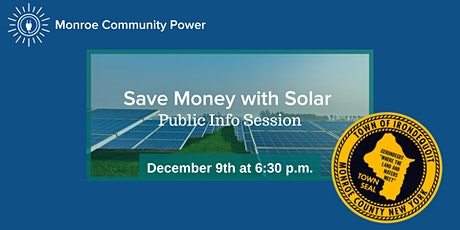Public Info Session: Save with Solar in Irondequoit tickets