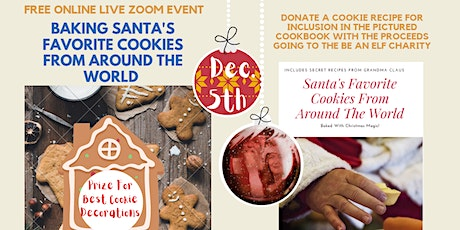Free Live Online Event For Charity: Baking Santa's Favorite Cookies  tickets