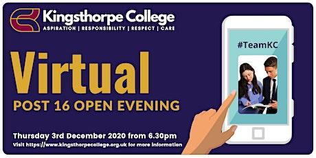 Post 16 Virtual Open Evening tickets