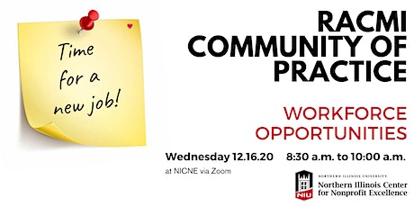 12.16.2020 RACMI Community of Practice - Workforce Opportunities tickets
