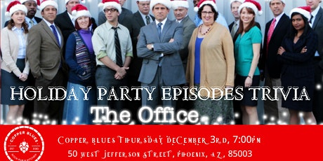 """The Office Trivia """"The Holiday Party Episodes"""" at Copper Blues tickets"""