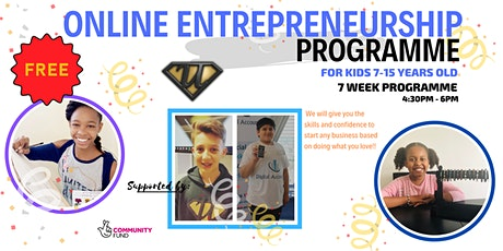 Ultra Education: FREE 7-11 yr old and 12-15 yr old Entrepreneur Programme tickets