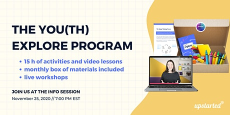 You(th) Explore Program by UpstartED - Information Session tickets