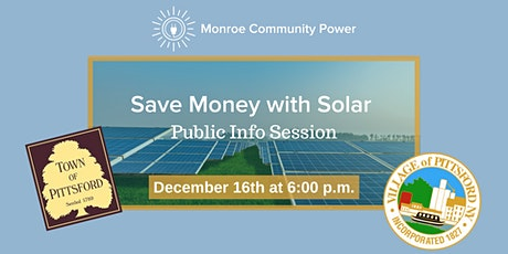 Public Info Session: Save with Solar in Pittsford tickets