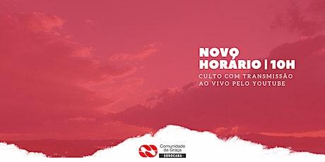 CULTO 13/12/20 - PRESENCIAL 10H DA MANHÃ ingressos