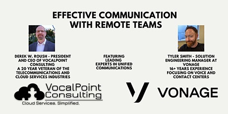 """""""Effective Communication with Remote Teams""""  Post COVID-19 tickets"""