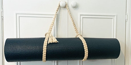ONLINE Macrame Yoga Mat Holder Workshop tickets