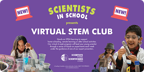 Virtual 4-week STEM Club-Winter 2021 dates and times available tickets