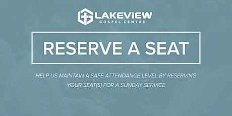 Church Seat Reservations | 1130am Service | No KidZone tickets