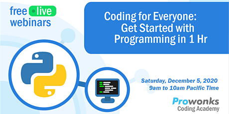ProWonks Webinar: Getting started with programming/coding tickets