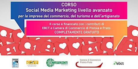 Corso Social Media Marketing livello avanzato biglietti