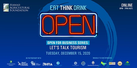 EAT THINK DRINK 13: Open for Business - Let's Talk Tourism tickets