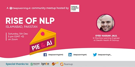 Pie & AI: Islamabad - Rise of NLP tickets