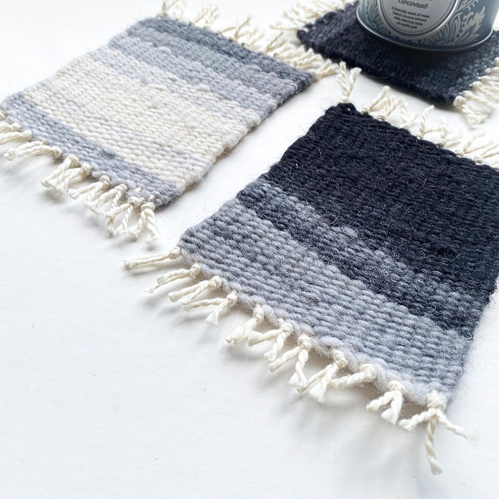 ONLINE Weaving Workshop - Make your own woven coasters! image