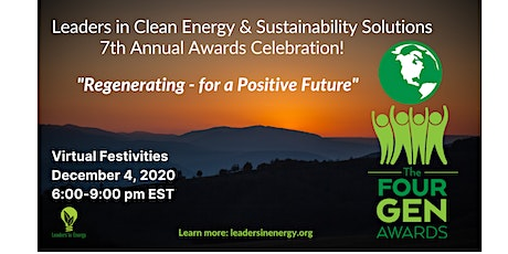 Leaders in Clean Energy & Sustainability Solutions: 4Gen Awards Celebration tickets