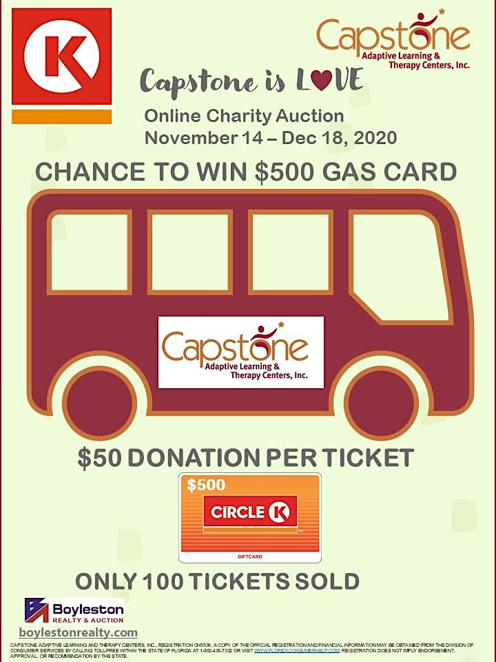 Capstone is Love Online Charity Auction Chance to Win $500 Gas Card image