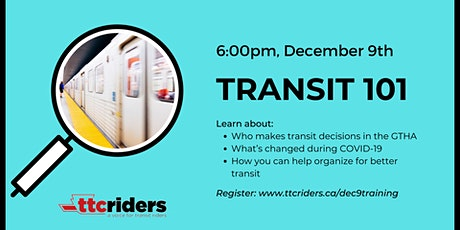 Transit in Toronto: Online training with TTCriders tickets