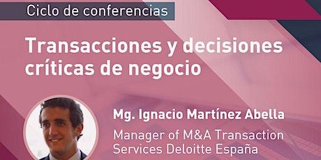 |Ciclo de Conferencias CEE| Transacciones y decisiones críticas de negocio entradas