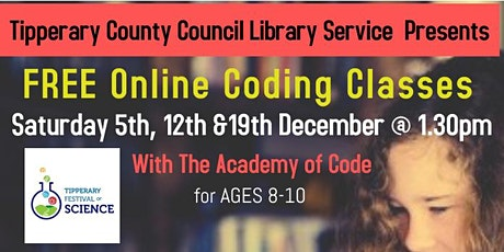 Coding Classes with Tipperary Libraries and Academy of Code tickets