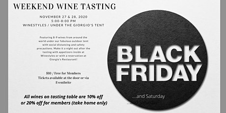 Black Friday and Saturday Weekend Wine Tasting (Friday and Saturday) tickets