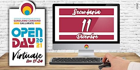 OPEN DAY SCUOLA SECONDARIA -11 Dicembre 2020 ore 17:30 tickets
