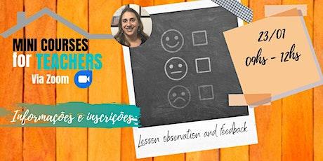 Lesson observation and feedback com Bruna Caltabiano (Online) ingressos