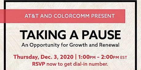Taking a Pause: An Opportunity for Growth and Renewal  w/ Marcella Jones tickets
