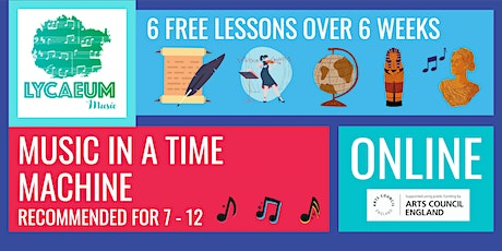 Music In A Time Machine (7-9yo's) - 6 Weeks - Pick Your Weekly Time Slot tickets