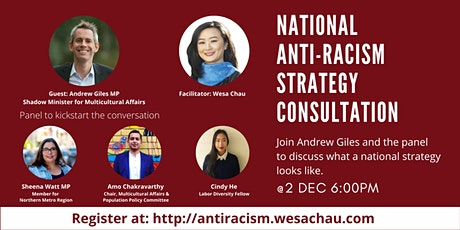 National Anti-Racism Strategy consultation tickets