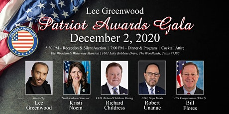 2020 Lee Greenwood Patriot Awards Gala tickets