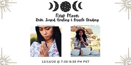 New Moon Reiki, Sound Healing & Oracle Reading tickets