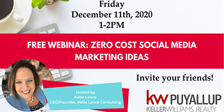 Zero Cost Marketing with Katie Lance tickets