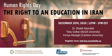 The Right to an Education in Iran 12pm-1pm, 10 Dec 2020 (Human Rights Day) tickets