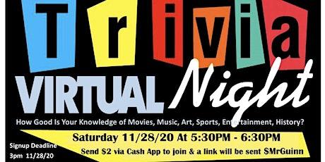 Monthly Virtual Trivia Night tickets
