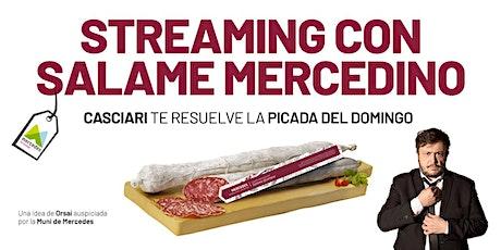 HERNÁN CASCIARI: «Streaming con Salame Mercedino» — DOM 13 DIC entradas