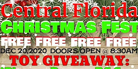 (Free Toys for Christmas) Central Florida Christmas Fest 2020 tickets