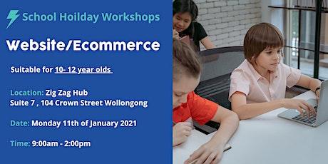 School Holidays - Website/Ecommerce Workshop tickets