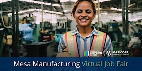 Mesa Manufacturing Virtual Job Fair tickets